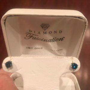 Jewelry - Blue Diamond Earrings